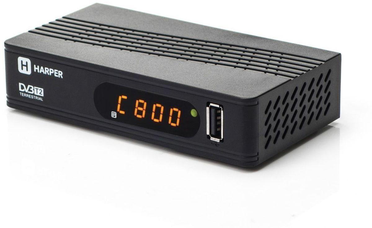 ТВ-тюнер/ресивер Harper HDT2-1514, Black olto hdt2 1007 цифровой тв ресивер