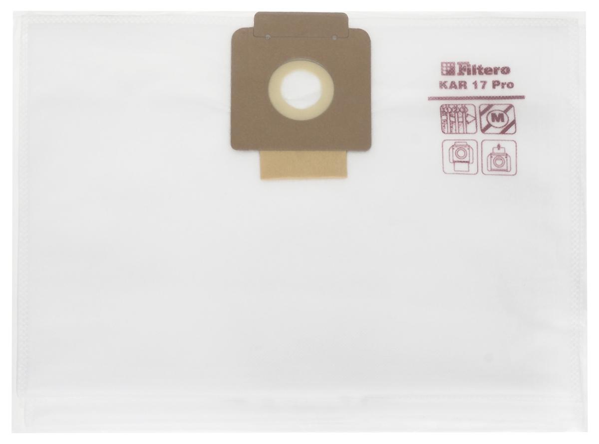 Filtero KAR 17 Pro комплект пылесборников для промышленных пылесосов, 5 шт пылесборник filtero kar 20 2 pro для промышленных пылесосов