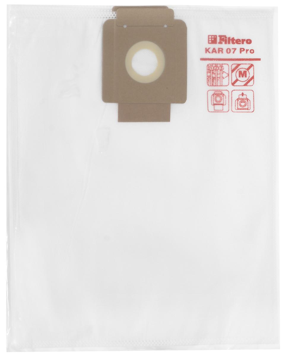 Filtero KAR 07 Pro комплект пылесборников для промышленных пылесосов, 5 шт пылесборник filtero kar 20 2 pro для промышленных пылесосов