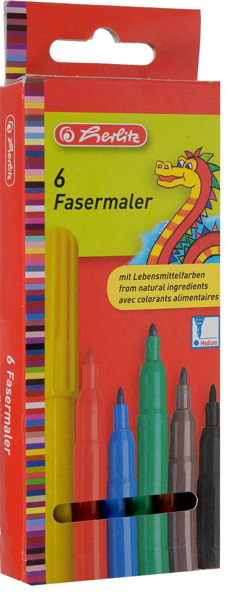 Herlitz Набор фломастеров Fasermaler 6 цветов