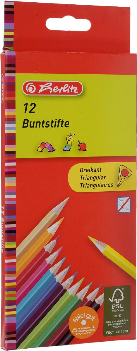 Herlitz Набор цветных карандашей Buntstifte 12 шт herlitz herlitz набор геометрический 4 предмета пластик