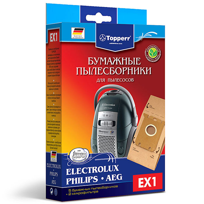 Topperr EX 1 фильтр для пылесосовAEG, Bork, Electrolux, Philips, Zanussi, 5 шт