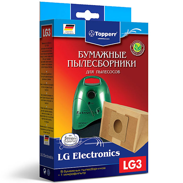 Topperr LG 3 фильтр для пылесосовLG Electronics, 5 шт frico accs25wh v