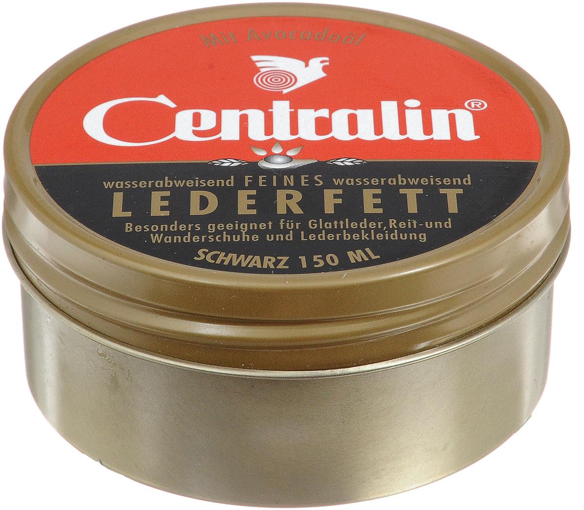 Жир для кожаной обуви Centralin, цвет: черный, 150 мл жир для кожаной обуви centralin цвет бесцветный 150 мл уцененный товар 3