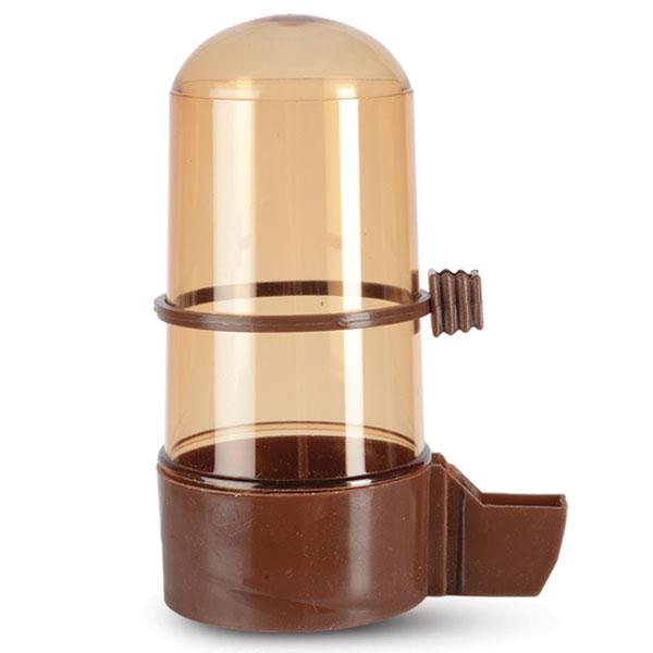 """Поилка для птиц """"Triol"""", с носиком, цвет: коричневый, 320 мл"""