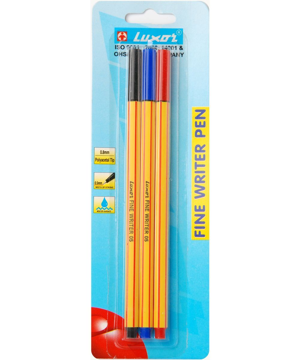 Luxor Набор ручек Finliner 3 шт набор капиллярных ручек luxor fine writer 045 246642 цвет чернил красный 10 шт
