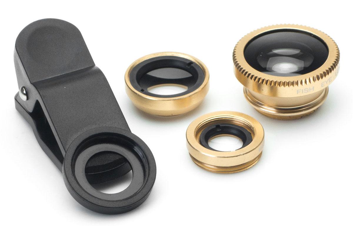 Набор объективов 3 в 1 Harper UCL-003, Gold