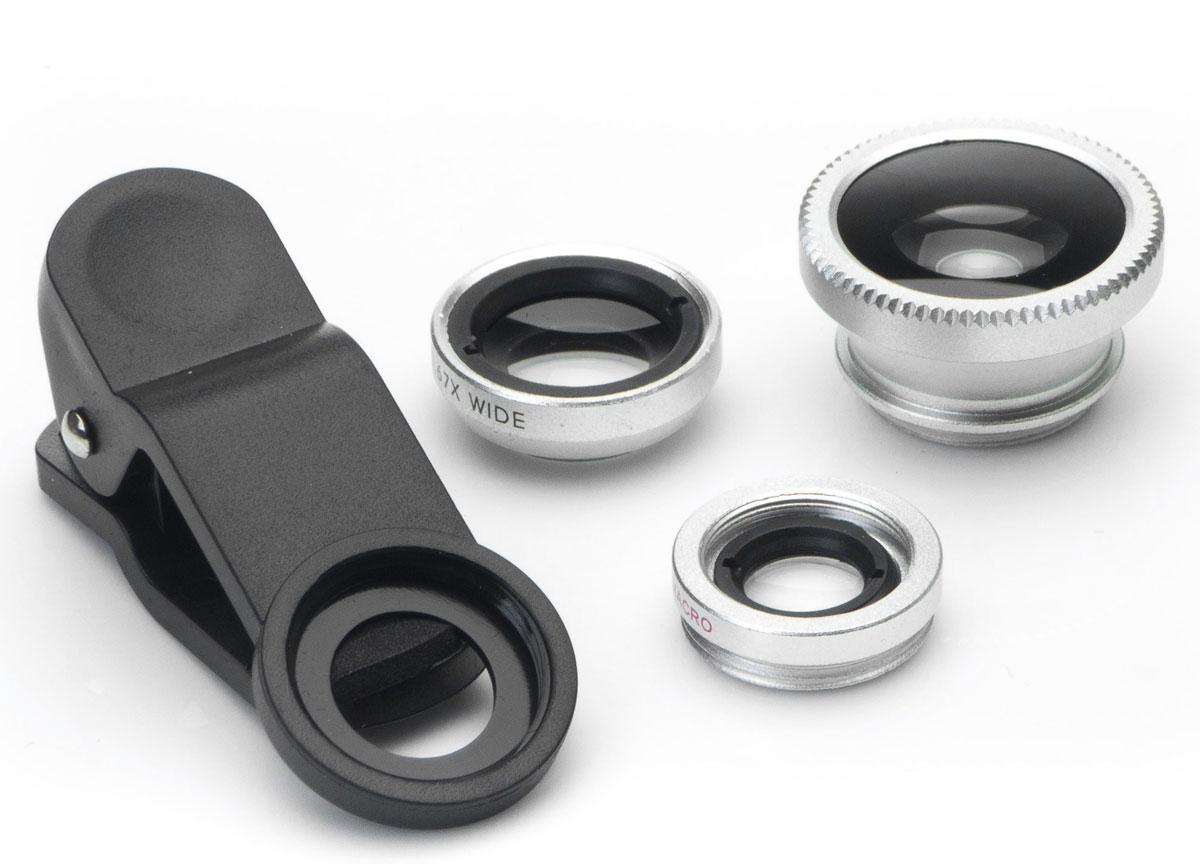 Набор объективов 3 в 1 Harper UCL-003, Silver
