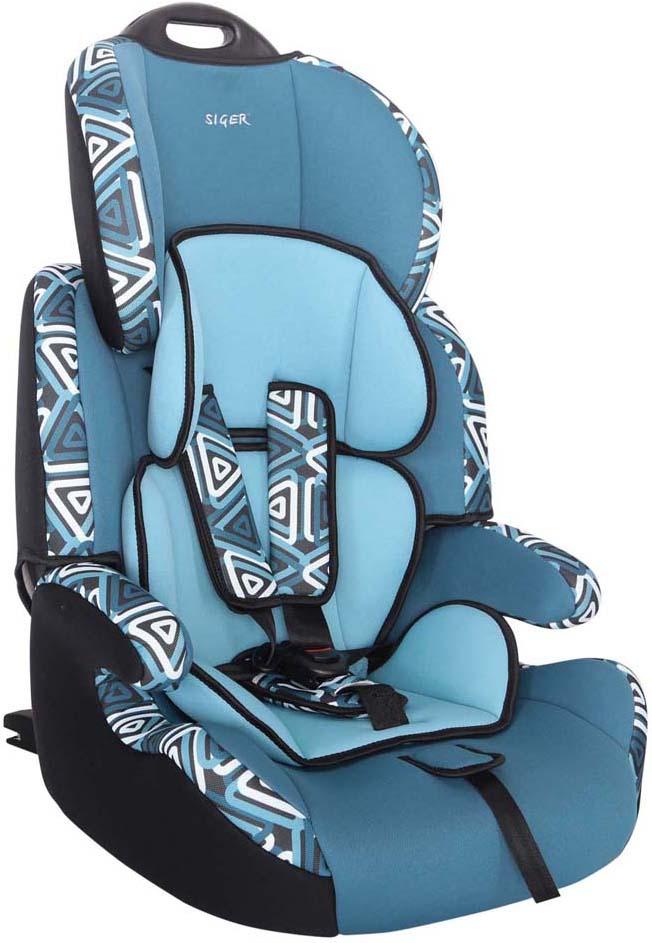 """Автокресло Siger Art """"Стар IsoFix. Геометрия"""" от 9 до 36 кг, KRES0478, голубой"""