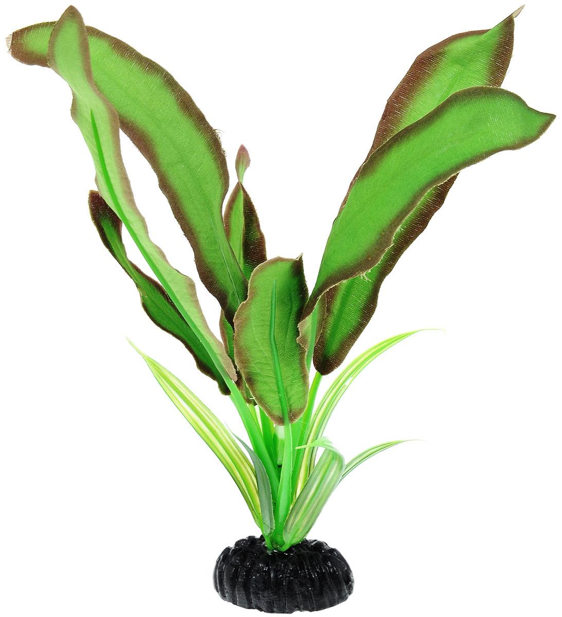 Растение для аквариума Barbus Эхинодорус Бартхи, шелковое, цвет: зеленый, коричневый, высота 20 см растение для аквариума barbus эхинодорус бартхи шелковое цвет зеленый коричневый высота 20 см