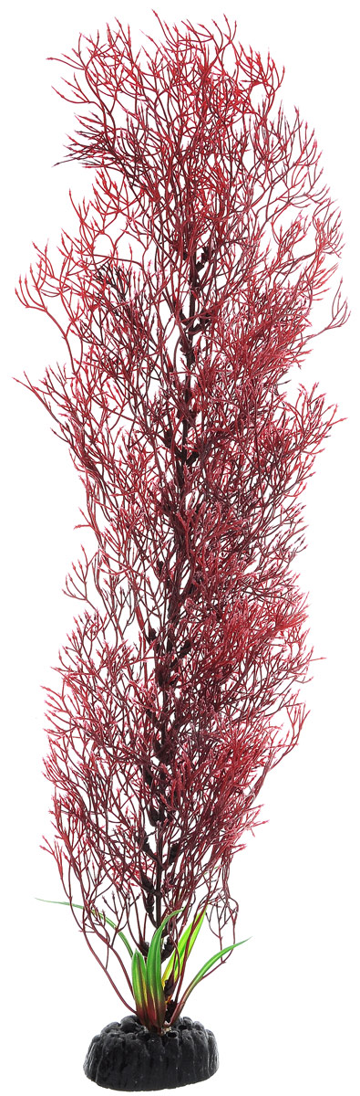 Растение для аквариума Barbus Горгонария, пластиковое, цвет: красный, высота 50 см ландшафтное украшение для аквариума 702