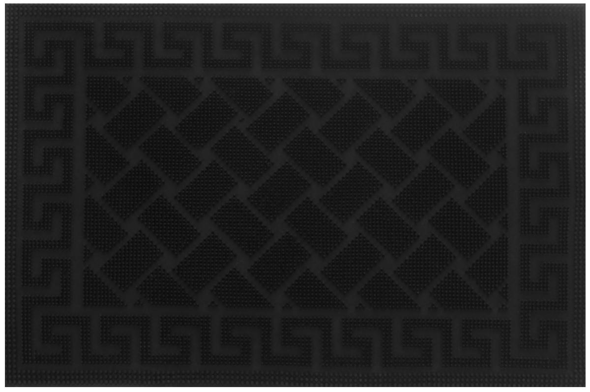 """Коврик придверный Shree Sai International """"Pin Mat. Орнамент"""", цвет: черный, 60 х 40 см"""