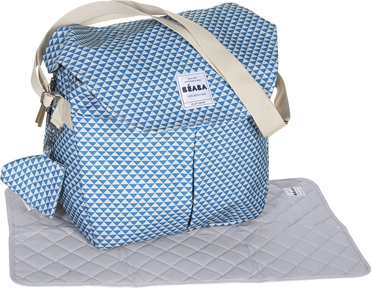 34769de75a44 Beaba Сумка для мамы Changing Bag Vienna Ii цвет синий серый — купить в  интернет-магазине OZON.ru с быстрой доставкой
