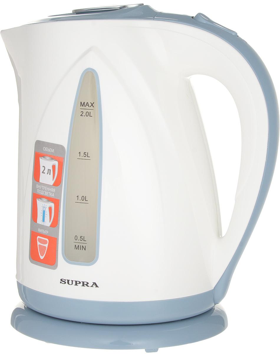 Электрический чайник Supra KES-2004, Blue чайник электрический supra kes 1705 beige