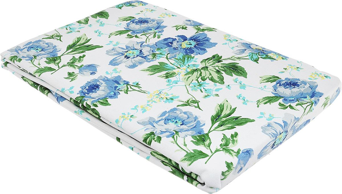 """Скатерть """"Bonita"""", цвет: синий, зеленый, белый, 145 х 180 см. 1101210121"""
