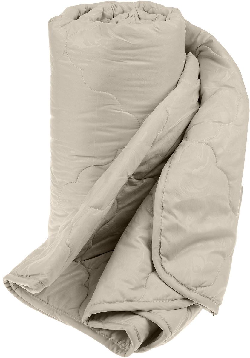 Одеяло Sova & Javoronok, наполнитель: верблюжья шерсть, микрофибра, цвет: бежевый, 140 х 205 см5030116348Чехол одеяла Sova & Javoronok выполнен из высококачественной микрофибры (100% полиэстера). Наполнитель одеяла изготовлен из верблюжьей шерсти и полиэфирного волокна. Стежка надежно удерживает наполнитель внутри и не позволяет ему скатываться. Особенности наполнителя: - исключительные терморегулирующие свойства; - высокое качество прочеса и промывки шерсти; - великолепные ощущения комфорта и уюта. Верблюжья шерсть обладает целебными качествами, содержит наиболее высокий процент ланолина (животного воска), который является природным антисептиком и благоприятно воздействует на организм по целому ряду показателей: оказывает благотворное действие на мышцы, суставы, позвоночник, нормализует кровообращение, имеет профилактический эффект при заболевания опорно-двигательного аппарата. Кроме того, верблюжья шерсть антистатична. Шерсть верблюда сохраняет прохладу в период жаркого лета и удерживает тепло во время суровой зимы. Одеяло упакована в прозрачный пластиковый чехол на змейке с ручкой, что является чрезвычайно удобным при переноске. Рекомендации по уходу: - Стирка запрещена, - Нельзя отбеливать. При стирке не использовать средства, содержащие отбеливатели (хлор), - Не гладить. Не применять обработку паром, - Химчистка с использованием углеводорода, хлорного этилена, - Нельзя выжимать и сушить в стиральной машине.
