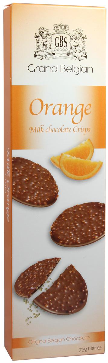 Конфеты фигурные GBS из молочного шоколада с воздушным рисом и вкусом апельсина, 75 г gbs конфеты фигурные из молочного шоколада с воздушным рисом и вкусом карамели 75 г