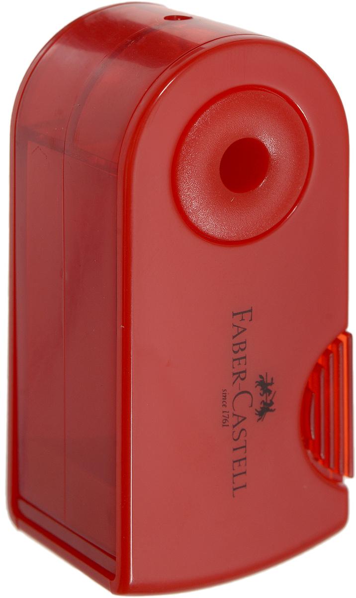Faber-Castell Мини-точилка Sleeve цвет красный faber castell чернографитовый карандаш faber castell perfekt pencil 1 шт точилка