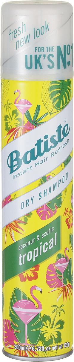 Batiste Сухой шампунь для волос Tropikal, 200 мл китайский сухой шампунь