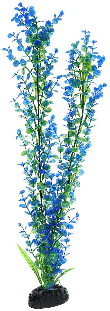 Растение для аквариума Barbus Бакопа, пластиковое, цвет: зеленый, синий, высота 50 см растение для аквариума barbus роголистник пластиковое цвет зеленый высота 50 см