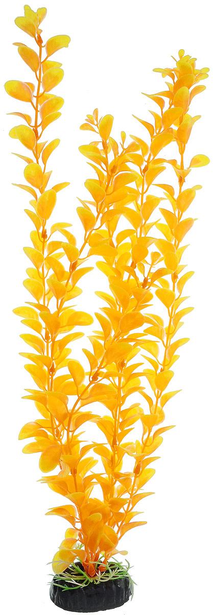 Растение для аквариума Barbus Людвигия, пластиковое, цвет: желто-оранжевый, высота 50 см оборудование для аквариума 50 литров