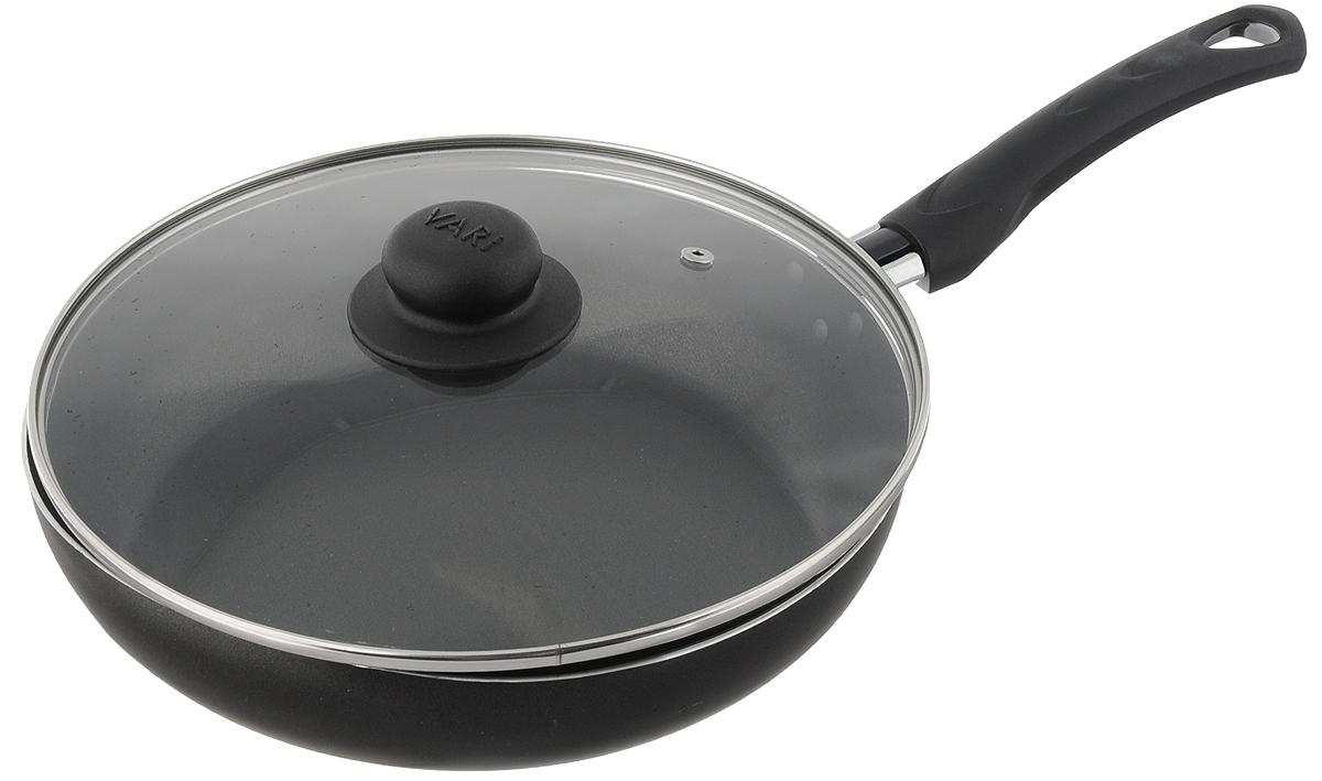 Сковорода Vari Bistro с крышкой, с антипригарным покрытием. Диаметр 26 см сотейник vari bistro с антипригарным покрытием диаметр 22 см f73122