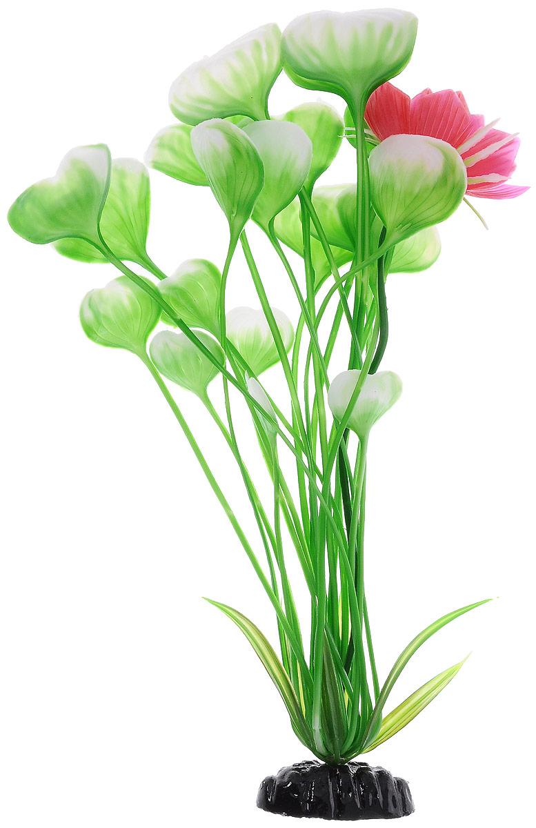 Растение для аквариума Barbus Кувшинка с цветком, пластиковое, высота 30 см растение для аквариума barbus горгонария пластиковое цвет коричневый высота 30 см