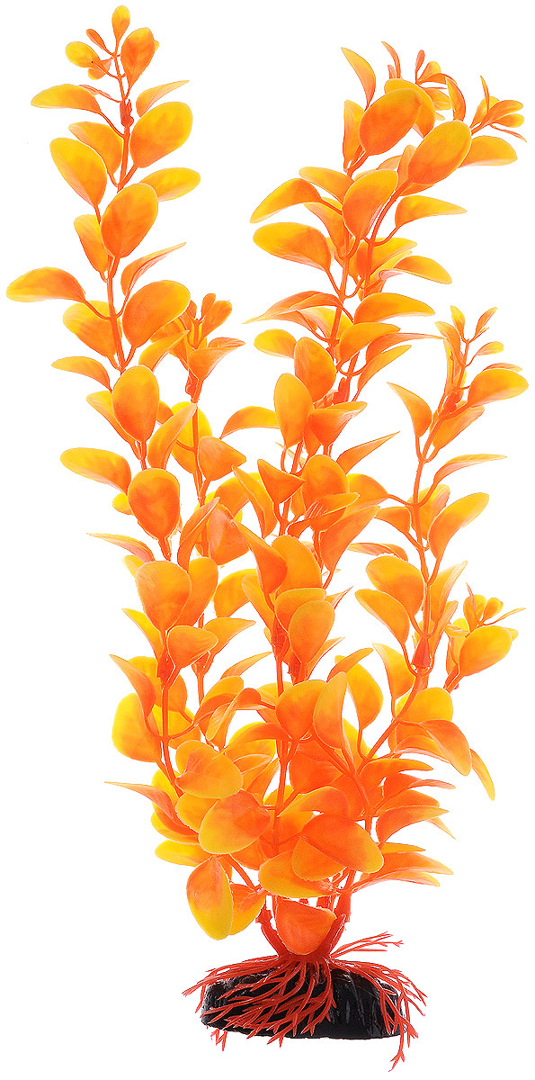 Растение для аквариума Barbus Людвигия, пластиковое, цвет: оранжевый, высота 30 см растение для аквариума barbus горгонария пластиковое цвет коричневый высота 30 см