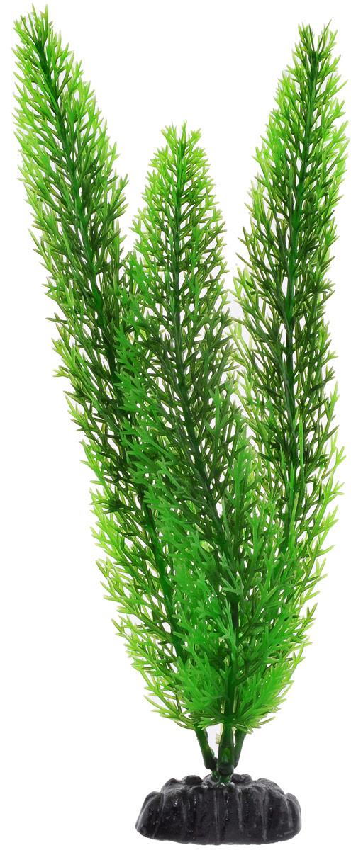 Растение для аквариума Barbus Роголистник, пластиковое, цвет: зеленый, высота 30 см растение для аквариума barbus горгонария пластиковое цвет коричневый высота 30 см