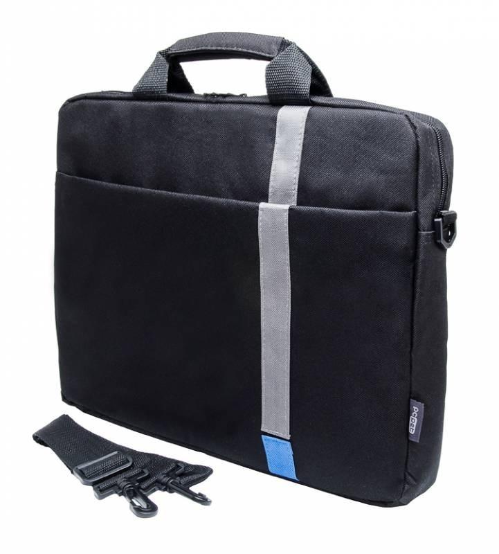 """Сумка для ноутбука 15.6"""" PC Pet HQ Classic, Black (PCP-1001BL)"""