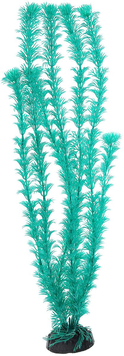 Растение для аквариума Barbus Кабомба, пластиковое, цвет: бирюзовый, высота 50 см растение для аквариума barbus роголистник пластиковое цвет зеленый высота 50 см
