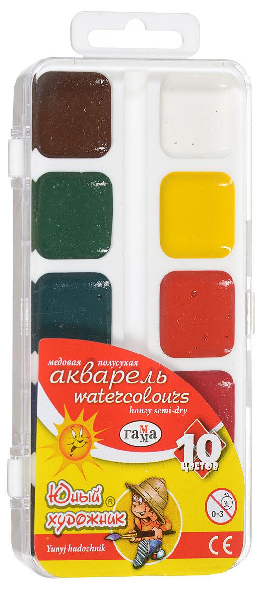 Фото - Гамма Акварель медовая Юный художник 10 цветов акварель гамма классическая медовая 216021 24 цвета