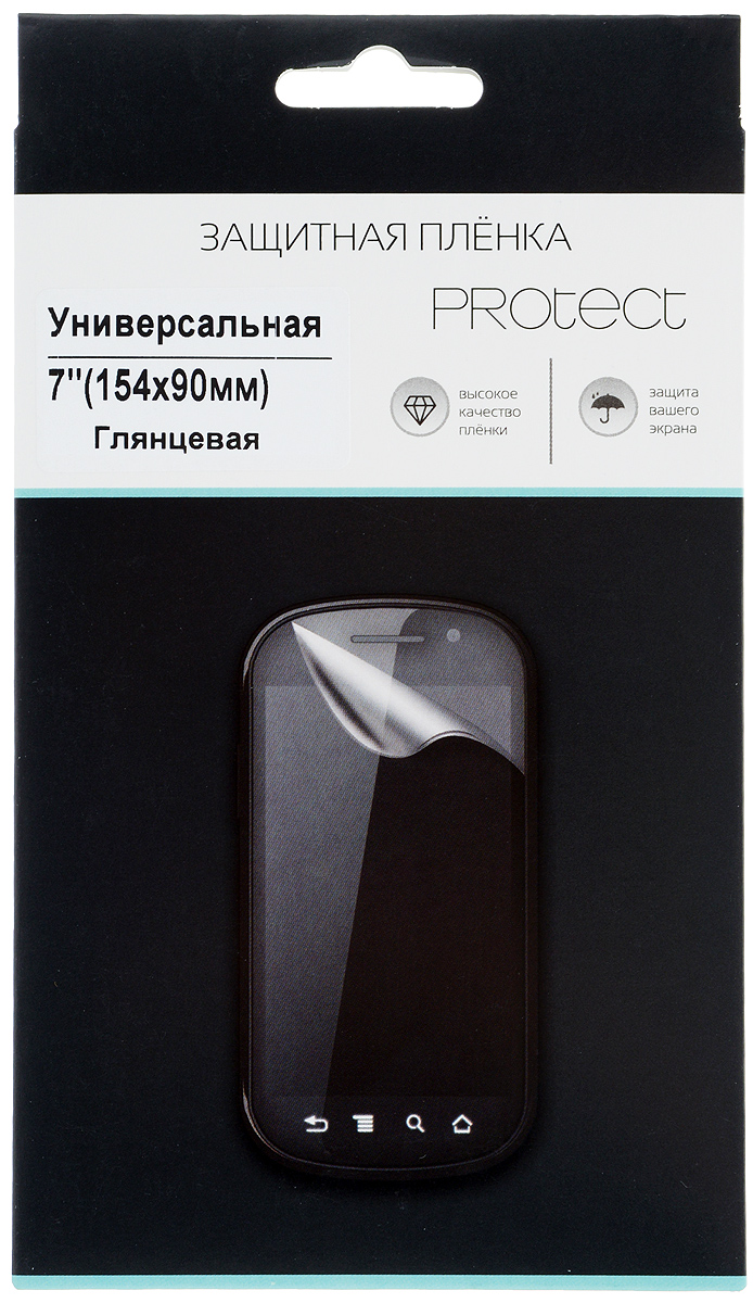 Protect универсальная защитная пленка для устройство 7, глянцевая (154x90 мм) protect защитная пленка для asus fonepad 8 fe380cg глянцевая