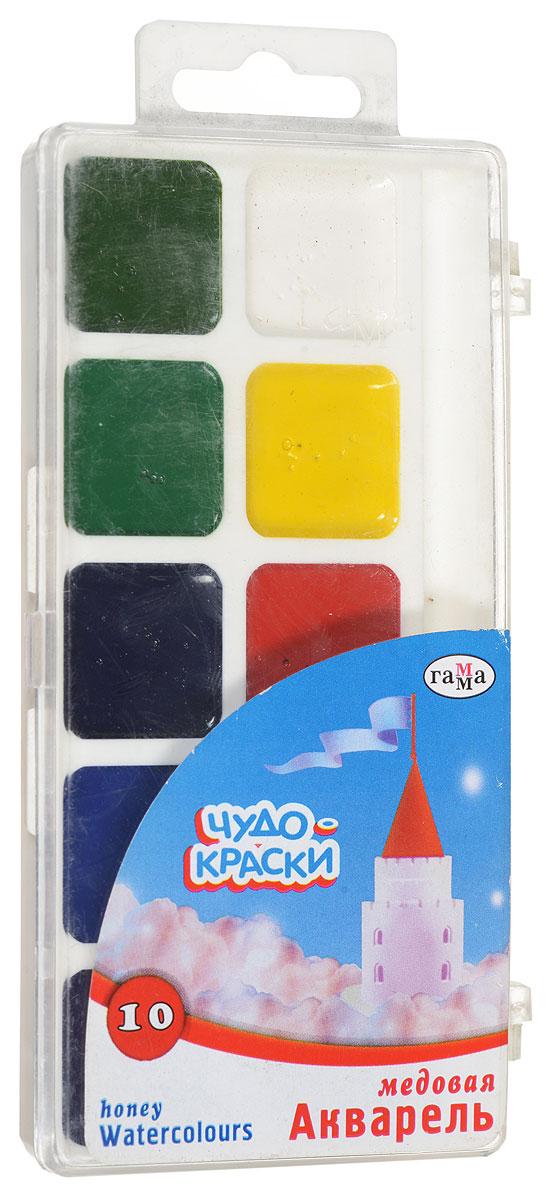 Фото - Гамма Акварель медовая Чудо-краски 10 цветов акварель гамма классическая медовая 216018 10 цветов