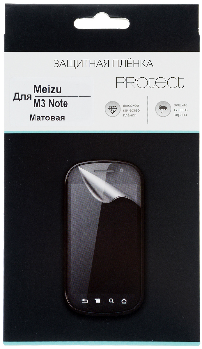 Protect защитная пленка для Meizu M3 Note, матовая аксессуар защитная пленка meizu m2 mini tfn матовая