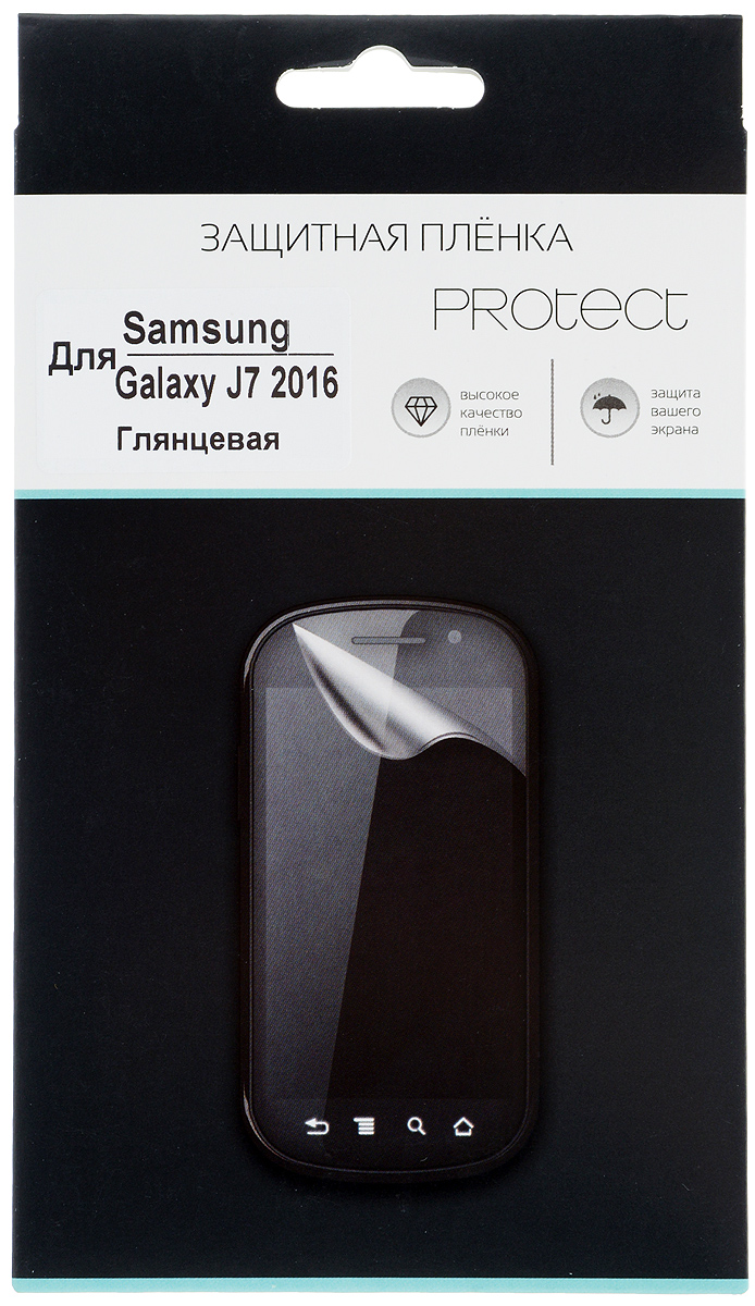 Protect защитная пленка для Samsung Galaxy J7 (2016), глянцевая защитная пленка luxcase sp tpu для samsung galaxy j7 2017 на весь экран глянцевая
