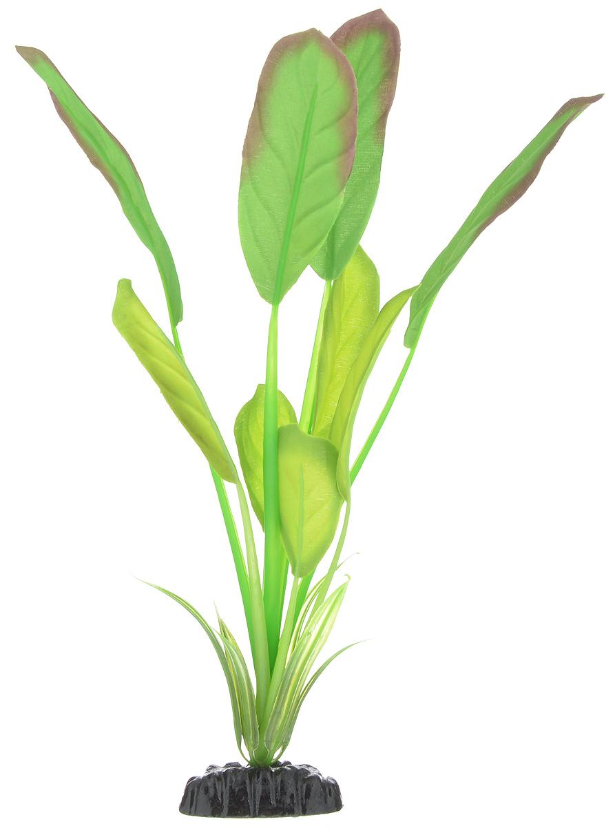 Растение для аквариума Barbus Эхинодорус Блехера, шелковое, высота 30 см растение для аквариума barbus эхинодорус бартхи шелковое цвет зеленый коричневый высота 20 см