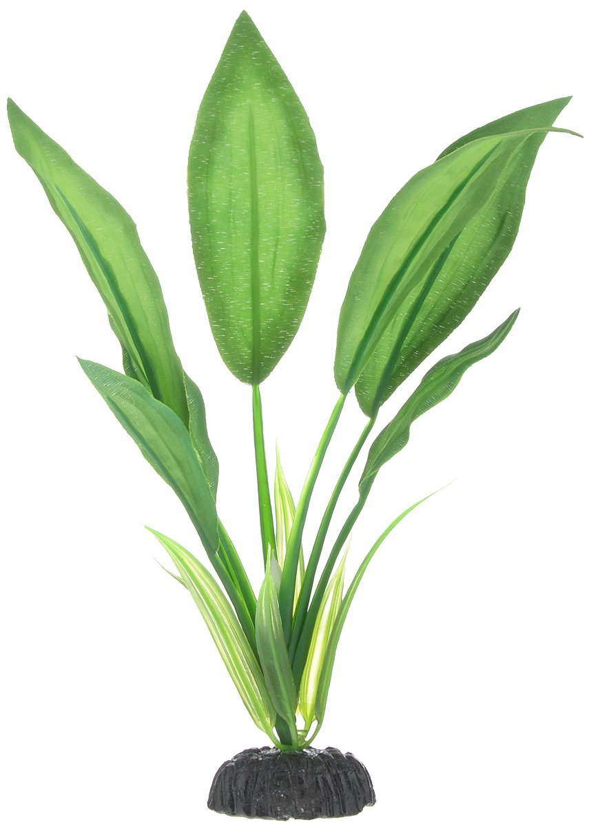 Растение для аквариума Barbus Эхинодорус Блехера, шелковое, высота 20 см растение для аквариума barbus эхинодорус бартхи шелковое цвет зеленый коричневый высота 20 см