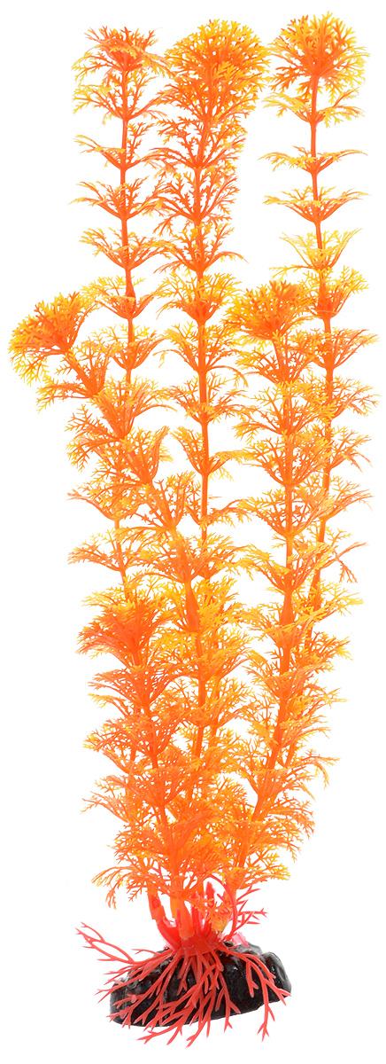 Растение для аквариума Barbus Кабомба, пластиковое, цвет: оранжевый, высота 30 см растение для аквариума barbus горгонария пластиковое цвет коричневый высота 30 см