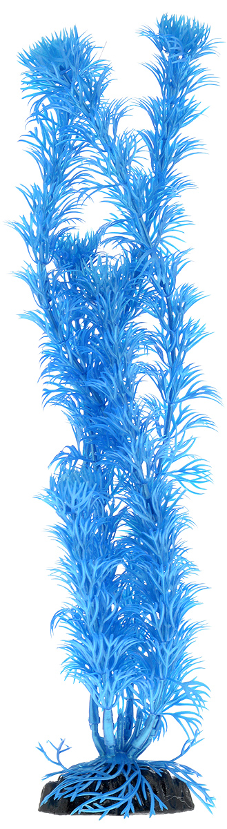 Растение для аквариума Barbus Кабомба, пластиковое, цвет: синий, высота 30 см растение для аквариума barbus горгонария пластиковое цвет коричневый высота 30 см