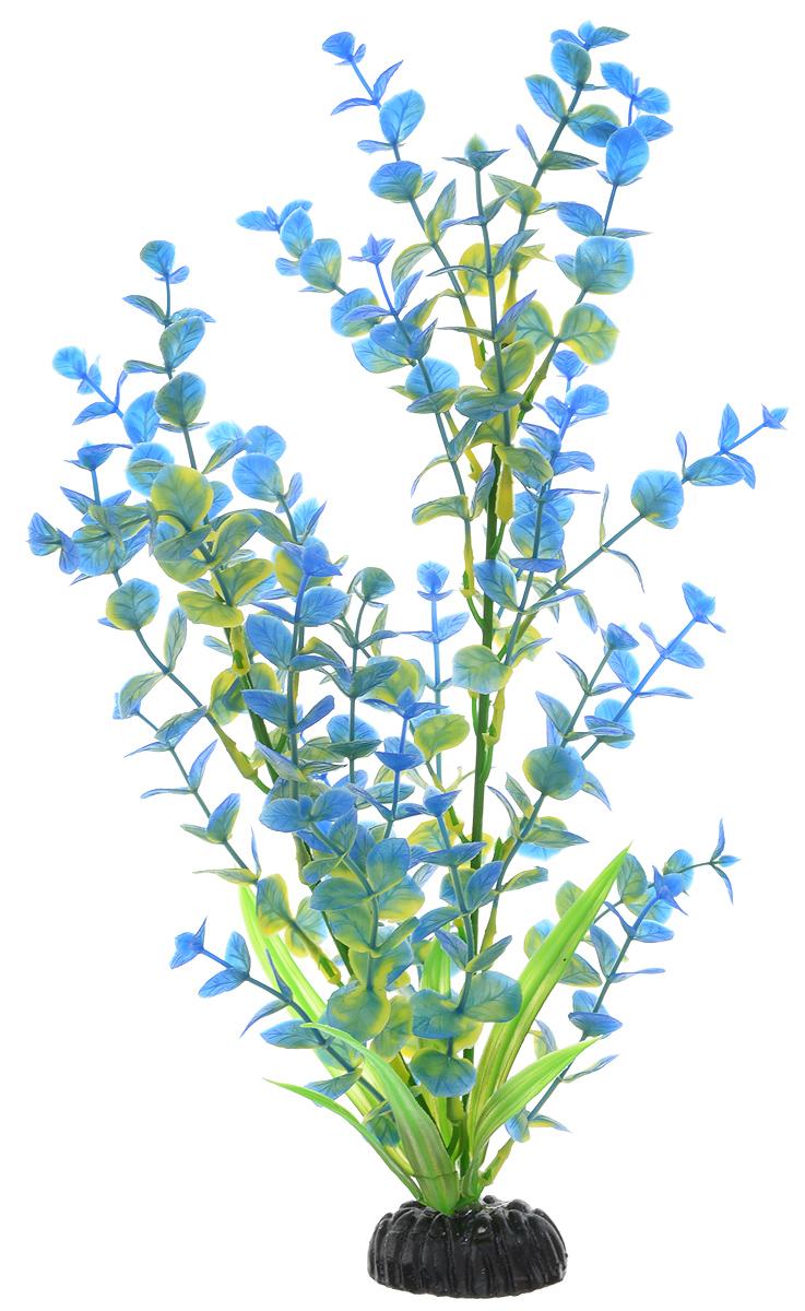 Растение для аквариума Barbus Бакопа, пластиковое, цвет: зеленый, синий, высота 30 см растение для аквариума barbus горгонария пластиковое цвет коричневый высота 30 см