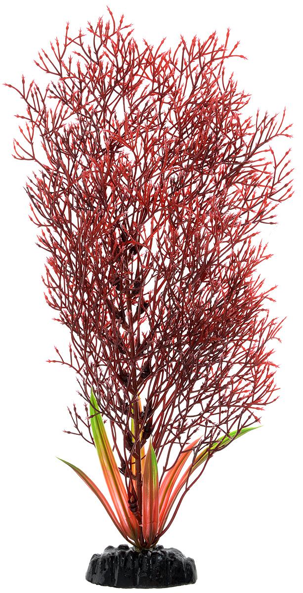 Растение для аквариума Barbus Горгонария, пластиковое, цвет: красный, высота 30 см растение для аквариума barbus горгонария пластиковое цвет коричневый высота 30 см