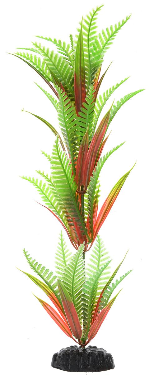 Растение для аквариума Barbus Папоротник, пластиковое, высота 30 см растение для аквариума barbus горгонария пластиковое цвет коричневый высота 30 см