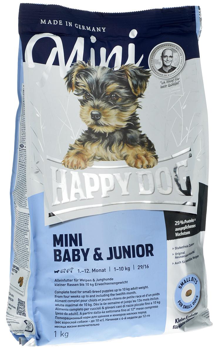 """Сухой корм Happy Dog """"Mini Baby & Junior"""" для щенков мелких пород (29/16), 1 кг"""