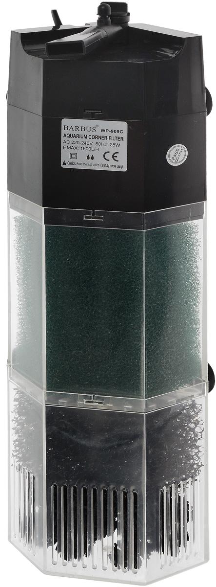 Био-фильтр секционный Barbus WP-909C, 1600 л/ч, 28 Вт фильтр для аквариума barbus wp 310f внутренний с регулятором и флейтой 200 л ч