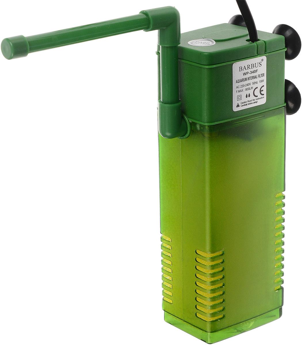 Фильтр для воды Barbus WP- 340F, аквариумный, с регулятором и флейтой, 800 л/ч фильтр для аквариума barbus wp 310f внутренний с регулятором и флейтой 200 л ч