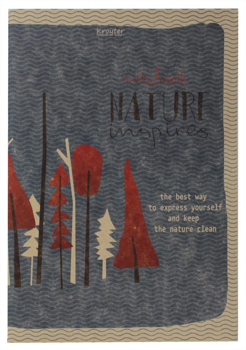 Kroyter Тетрадь Nature 48 листов в клетку kroyter тетрадь креатив 48 листов в линейку