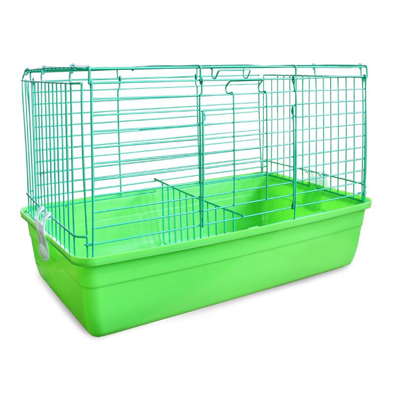 """Клетка для кроликов """"Triol"""", цвет: салатовый, 59 см х 40 см х 36 см"""