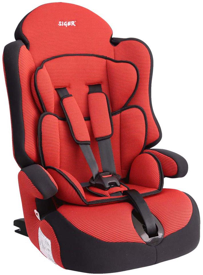 Siger Автокресло Прайм IsoFix цвет красный от 9 до 36 кг
