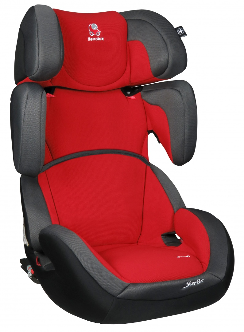 Автокресло Renolux StepFix от 15 до 36 кг, 291663, красный, серый